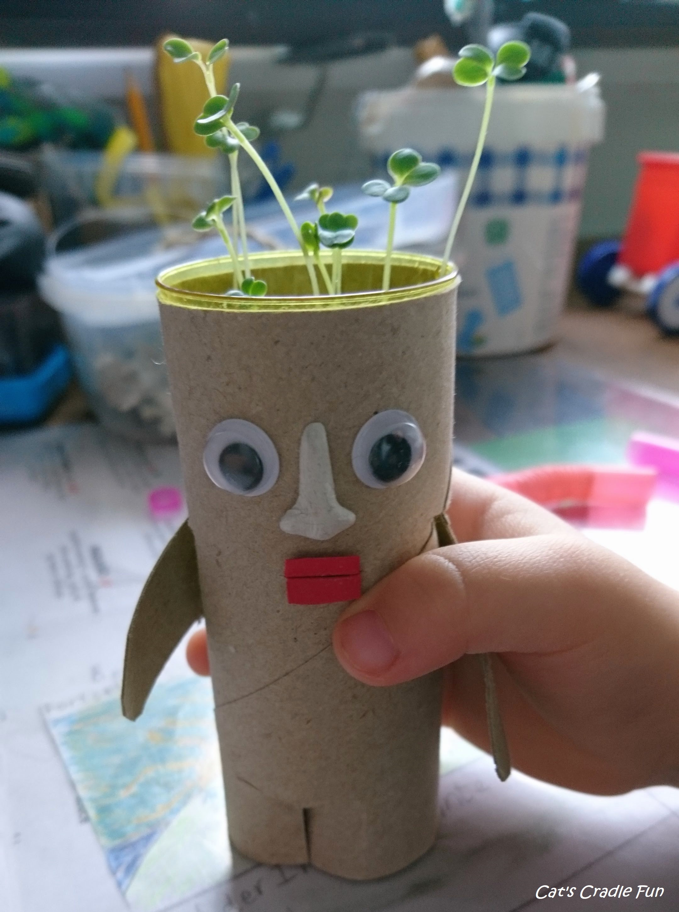 2 Fun Easter Ideas Green Decor / Paper roll & Milk CartonCrafts