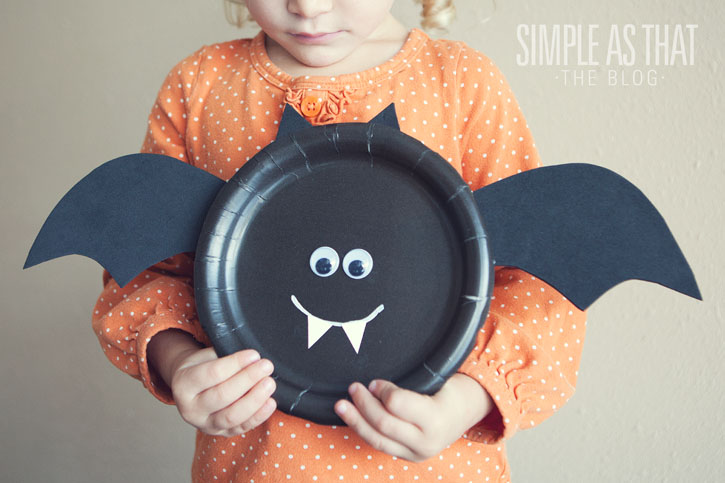 Easy halloween crafts with paper plates